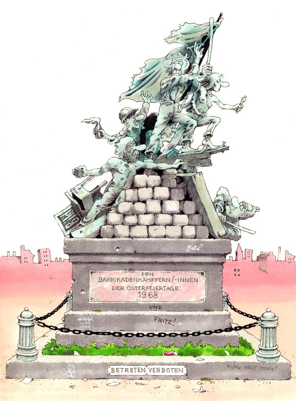 Seyfried Denkmal 68er