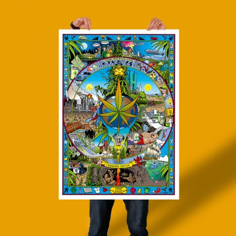 Plakat: Geschichte des Hanfs