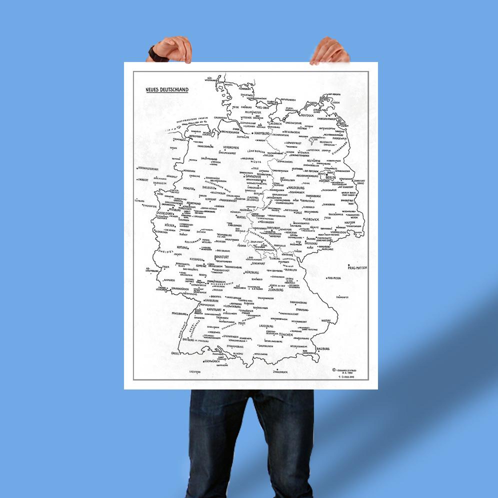 Plakat Deutschlandkarte Gerhard Seyfried